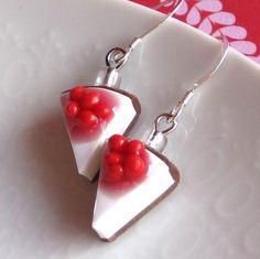 Cherry Cheesecake Earrings by OneElf on Etsy