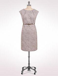 Belted Jacquard Dress | Dressbarn $50.00 #dresses #plussize #fashion