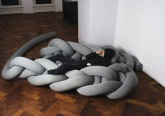 "Oversized ""foam-knitting"", looks like a great chilling place"
