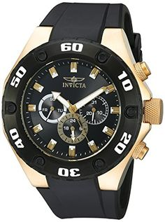 Men's Wrist Watches - Invicta Mens 21402 Specialty Analog Display Swiss Quartz Black Watch *** Be sure to check out this awesome product. (This is an Amazon affiliate link)