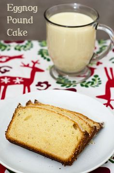 Eggnog pound cake makes a delicious Christmas dessert, or package it up to give as a homemade gift!
