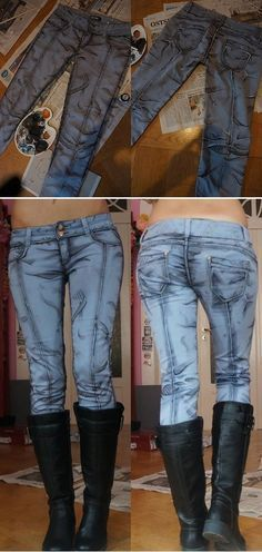 Cosplayer Makes Cell-Shaded Jeans For Borderlands Costume