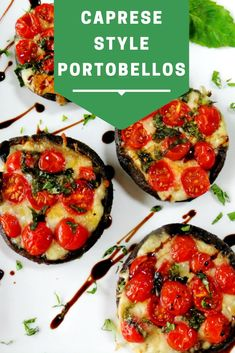 I love the large portobello mushroom caps because basically you can stuff them with almost anything you want resulting in a beautiful meal t. Stuffed Mushroom Caps, Stuffed Mushrooms, Stuffed Peppers, Big Salad, Fresh Mozzarella, Portobello, Caprese Salad, Cherry Tomatoes, How To Make Cake