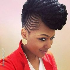 lovely cornrow mohawk ~African fashion, Ankara, kitenge, African women dresses, African prints, Braids, Nigerian wedding, Ghanaian fashion, African wedding ~DKK
