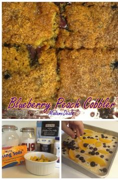 Blueberry Peach Cobbler #peach #recipes #inspireothers