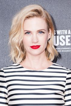 The best beauty looks of the week: January Jones. Vogue.com