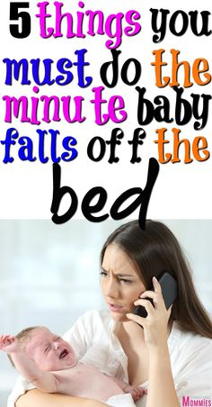 Here are 5 important things you must do when baby falls off the bed. Quick tips to help baby who fell off the bed or changing table. Baby fell off the bed what do I do? Here are the tips! Parenting Toddlers, Parenting Hacks, Taking Care Of Baby, Colic Baby, Postpartum Care, Happy Mom, Baby Health, Newborn Care, Baby Care