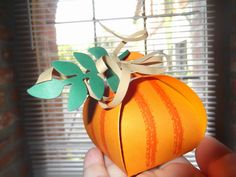 """9/1/14 New """"Decorative Box"""" in Pumpkin design & colors. LOVE IT!! Hopefully translation can be done when pin I've pinned is """"opened"""". Sconebeker Stamp Barn"""