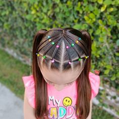 Mixed Girl Hairstyles, Lil Girl Hairstyles, Easy Hairstyles, Girl Hair Dos, Baby Girl Hair, Hair Due, One Hair, Hair Patterns, Toddler Hair