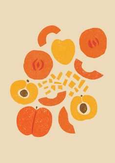 apricot-and-peach design, Debbie Powell for Tesco Foods