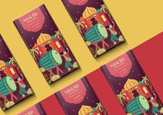 Eid ul Fitr - Chocolate Packaging Design Series on Behance Layout Inspiration, Packaging Design Inspiration, Self Branding, Branding Design, Eid Chocolates, Chocolate Wrapping, Chocolate Bars, Chocolate Packaging, Coffee Packaging