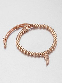 Michael Kors - Pavé Horn Beaded Bracelet/Rose Goldtone - Saks.com