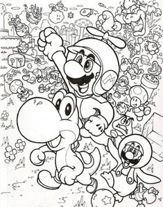 30 Best Mario Brothers Coloring Page Images Coloring Pages