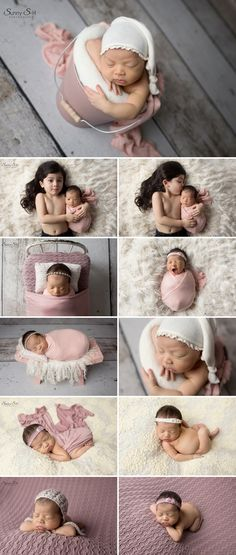 Gorgeous pink and cream studio newborn photo shoot for 8 day old Stella.  Sunny S-H Photography Winnipeg