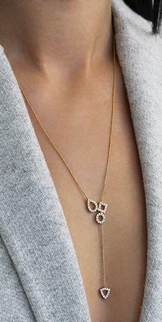 Delicate diamond lariat