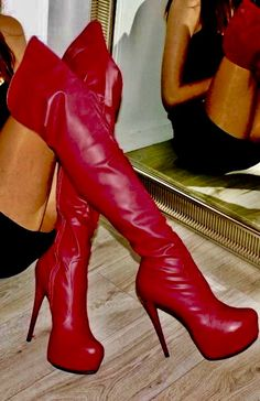 Beige Boots, High Leather Boots, Red Boots, Thigh High Boots Heels, Heeled Boots, Shoe Boots, High Heels, Long Boots, Designer Boots