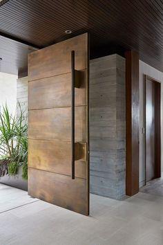 Beautiful Front Doors, Modern Front Door, Front Door Decor, House Doors, House Entrance, Entrance Doors, Modern Entrance Door, Entrance Ideas, Door Entry