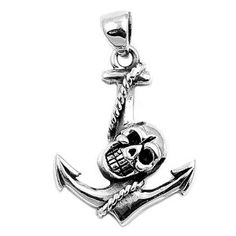 925 Sterling Silver Skull Anchor Pendant (Jewelry) http://www.amazon.com/dp/B006ZQS3A2/?tag=pindemons-20 B006ZQS3A2