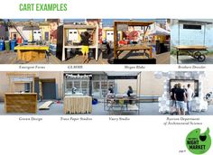 Some examples of food carts from previous years displayed in the Stops Night Markets 2016 Design Manuel.