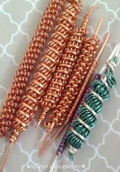 wire wrapped coils. Some very good pointers and advice! ~ Wire Jewelry Tutorials