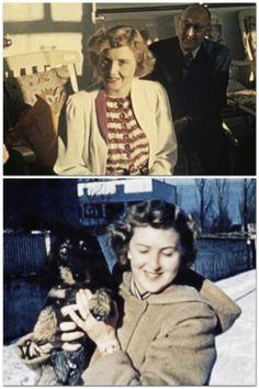 Two color photos of Eva Braun.