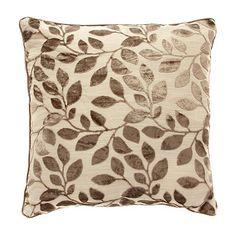 Debenhams Taupe Burnout Leaf Cushion Item No3290010511 1188 Throw RugsDebenhamsLiving Room