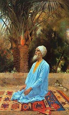Meditar Empire Ottoman, Middle Eastern Art, Arabian Art, Islamic Paintings, Academic Art, Illustration, Arabian Nights, Vintage Artwork, Art Plastique