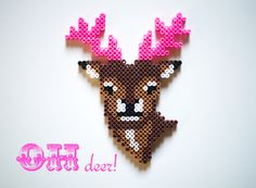 13 Unique Deer Crafts for Fall - DIY Candy I'm still not over deer, and I think I'll love them forever! If you feel the same, check out these 13 deer crafts ideas to get inspired. Hama Beads Design, Diy Perler Beads, Hama Beads Patterns, Perler Bead Art, Pearler Beads, Fuse Beads, Beading Patterns, Motifs Perler, Iron Beads