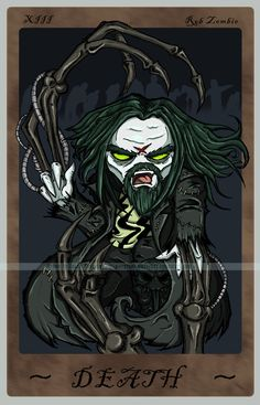 Rob Zombie tarot card.....