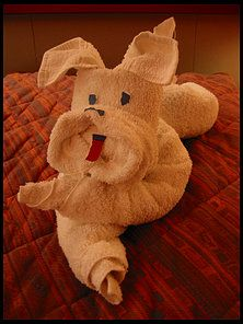 Cute Dog Made From Towels