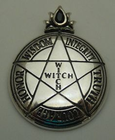 Witch Pentacle Pendant in Sterling Silver Wicca Witchcraft, Pagan Witch, Wiccan Altar, Pentacle, Yennefer Of Vengerberg, Season Of The Witch, Witch Aesthetic, Which Witch, Coven