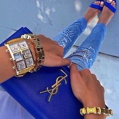 ysl clutch with gold chain - MAJORELLE BLUE -Yves Saint Laurent blue, Cobalt, Ultramarine, on ...