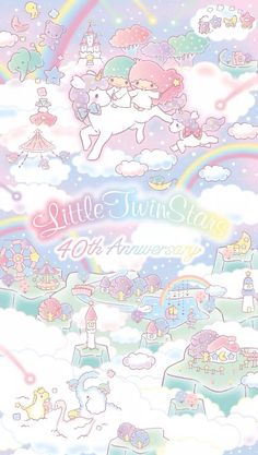 Image about sanrio in Little Twin Stars by ChaosCharlotte_ Sanrio Wallpaper, Star Wallpaper, Hello Kitty Wallpaper, Kawaii Wallpaper, Colorful Wallpaper, Disney Wallpaper, Hello Kitty My Melody, Sanrio Hello Kitty, Little Twin Stars