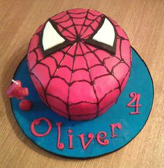 4th birthday cakes for boys | My Darlings And Me: Spiderman Cake
