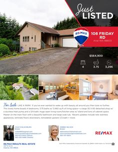 Price Improved! Real Estate Now for Sale: $564,900-4 Bd/3.75 Ba Lovely One Level Ariel Home with Daylight Basement on .2 Acre Fenced & Gated Corner Lot at: 108 Friday Rd, Ariel, Cowlitz County, WA! Listing Brokers: Cole Blackburn (360) 430-9466, RE/MAX Results Real Estate, Kalama, WA! #realestate #priceimproved #arielrealestate #onelevel #daylightbasement #fourbedroom #fenced #gated #cornerlot