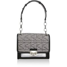 Karl Lagerfeld Shoulder Bags, K/Kuilted Tweed Mini Handbag Pink (645 AUD) ❤ liked on Polyvore featuring bags, handbags, shoulder bags, black, man shoulder bag, black purse, black shoulder handbags, pink handbags and purse shoulder bag