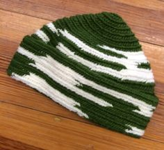 """Finished my son's hat while I was at """"Green Camel"""" (a local craft retreat). I wanted this hat to be instantly identifiable as his, since his lost his last one."""