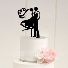 Figurine Classic Theme Couple Spring Summer Fall Winter Black Acrylic Find The Toppers To Match Cake StyleWedding