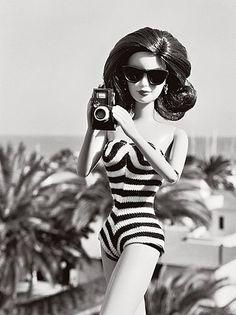 Image detail for -Barbie,doll,retro,black,white,photography,vintage ...