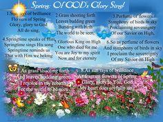 SPRING: GOD'S GLORY...