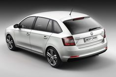 The new sports car design, fresh and dynamic look is proof enough of the good qualities of Skoda Rapid Spaceback.