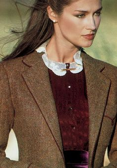 ♔ Tweed detail ~ Ralph Lauren