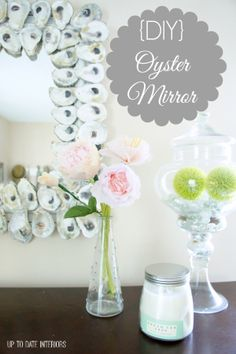 DIY Oyster Mirror: Easy project you can complete in a hour!