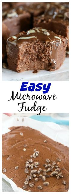Easy Microwave Fudge Easy Microwave Fudge – creamy fudge is always a hit around the holidays. Make it in the microwave in 15 minutes with this fool-proof, stress free recipe. Fudge Recipes, Best Dessert Recipes, Candy Recipes, Easy Desserts, Cookie Recipes, Delicious Desserts, Yummy Food, Dessert Ideas, Easy Microwave Fudge