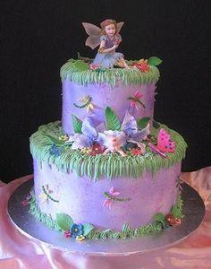 Garden Fairie Baby Shower Cake (Flickr Commons/gracefull333)