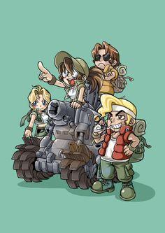Metal Slug: minha infância! Passava algumas horas na lan house jogando ^_^ #Morrighan