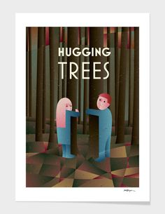 Discover «HUGGING TREES», Limited Edition Fine Art Print by Jan Vajsabel - From 27€ - Curioos