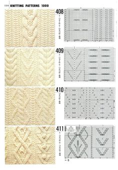 cable knitting with charts Cable Knitting Patterns, Knitting Stiches, Knitting Charts, Lace Knitting, Knitting Designs, Knit Patterns, Crochet Stitches, Stitch Patterns, Sewing Patterns