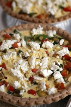 Vegetarian Mediterranean Quiche Recipe - use shredded sweet potatoes as the crust