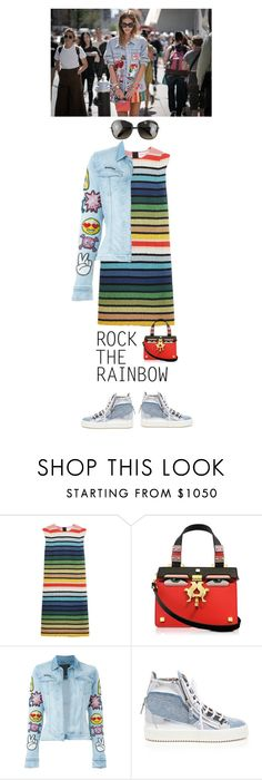 """Rock The Rainbow"" by junglover ❤ liked on Polyvore featuring Sonia Rykiel, Giancarlo Petriglia, Philipp Plein, Giuseppe Zanotti, Oliver Peoples, women's clothing, women's fashion, women, female and woman"